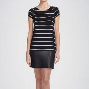 Bailey 44 DJ BABA black striped knit dress K119